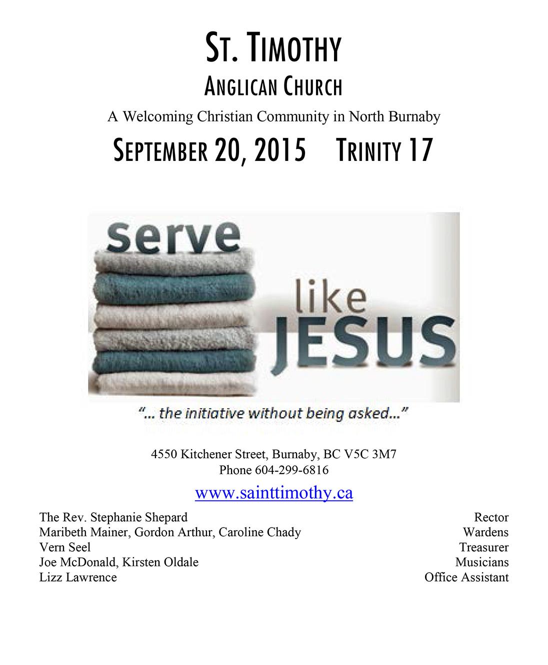 Bulletin: September 20, 2015