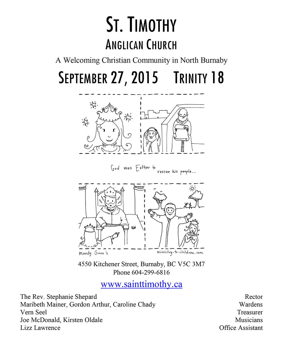 Bulletin: September 27, 2015