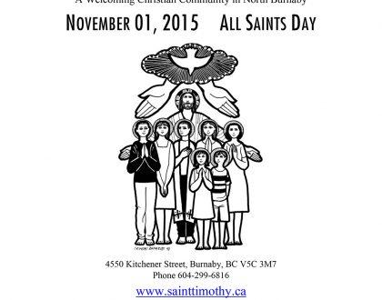 Bulletin: November 1, 2015