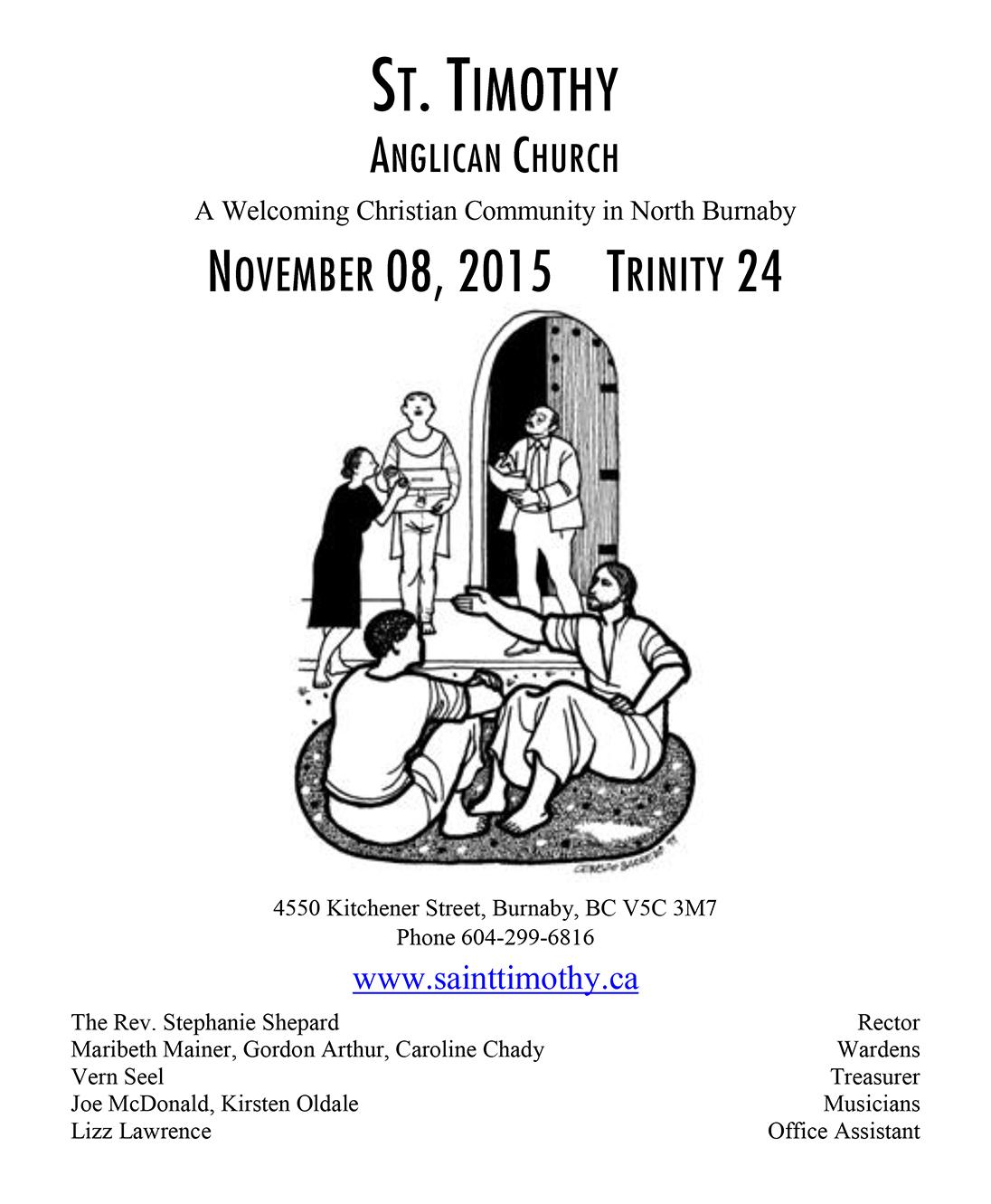 Bulletin: November 8, 2015