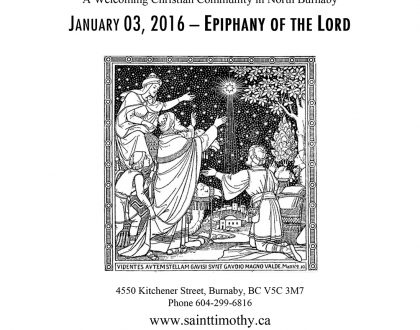 Bulletin: January 3, 2016