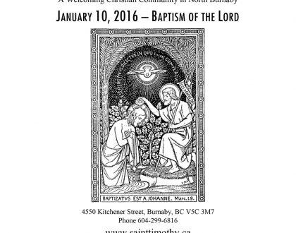 Bulletin: January 10, 2016