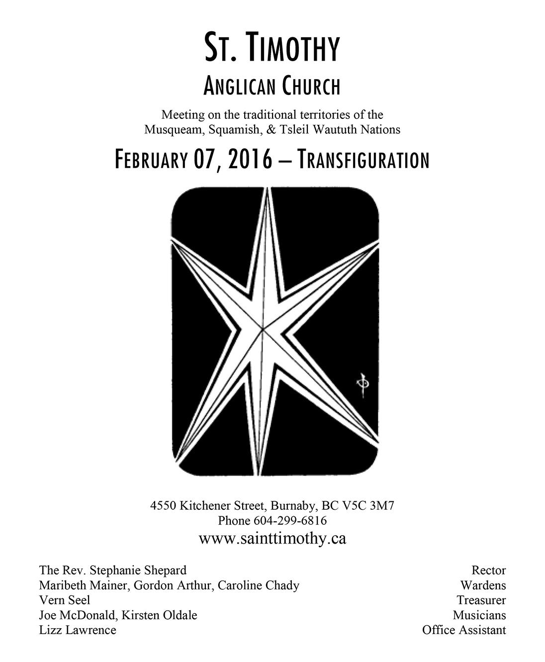 Bulletin: February 7, 2016