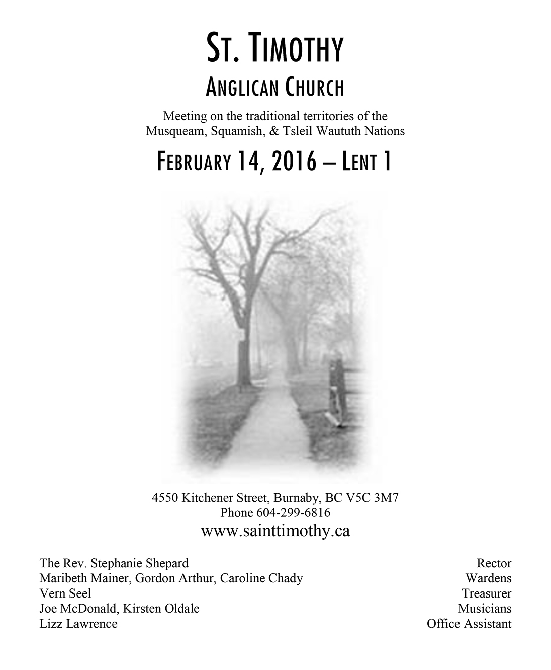 Bulletin: February 14, 2016