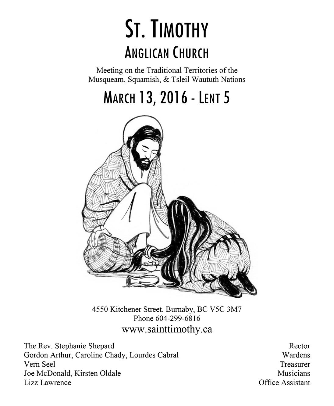 Bulletin: March 13, 2016