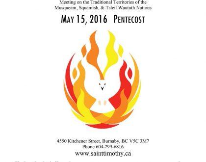 Bulletin: May 15, 2016
