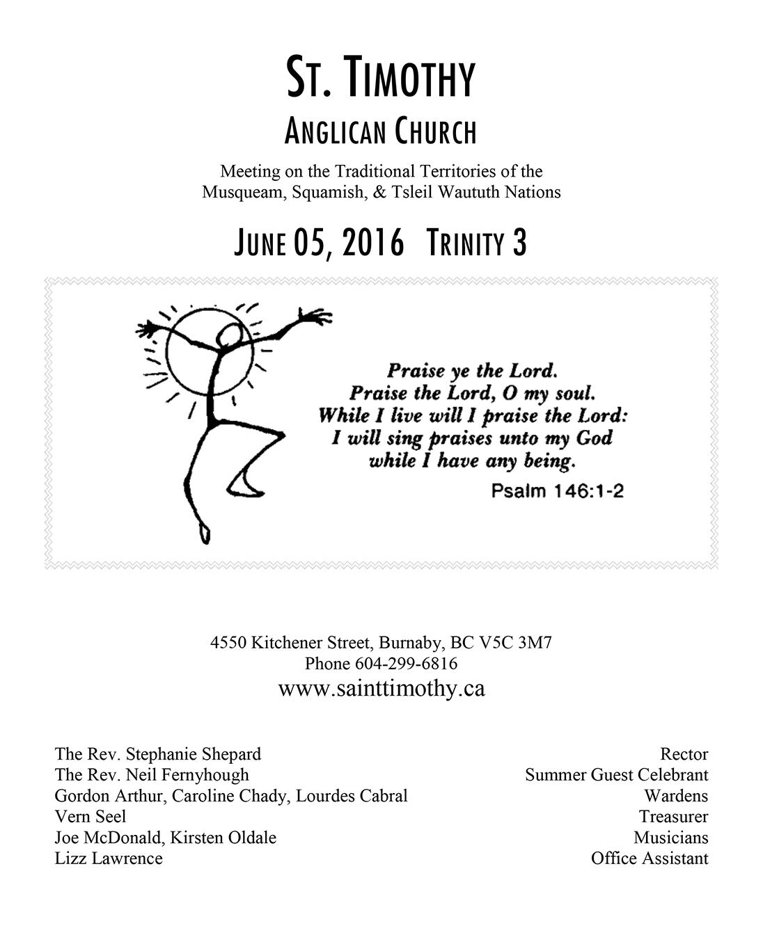 Bulletin: June 5, 2016