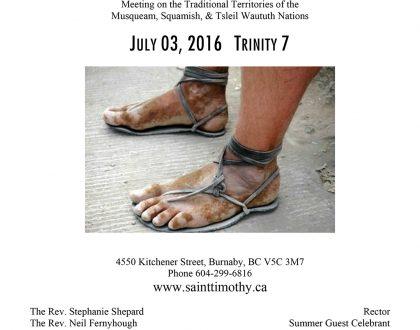 Bulletin: July 3, 2016