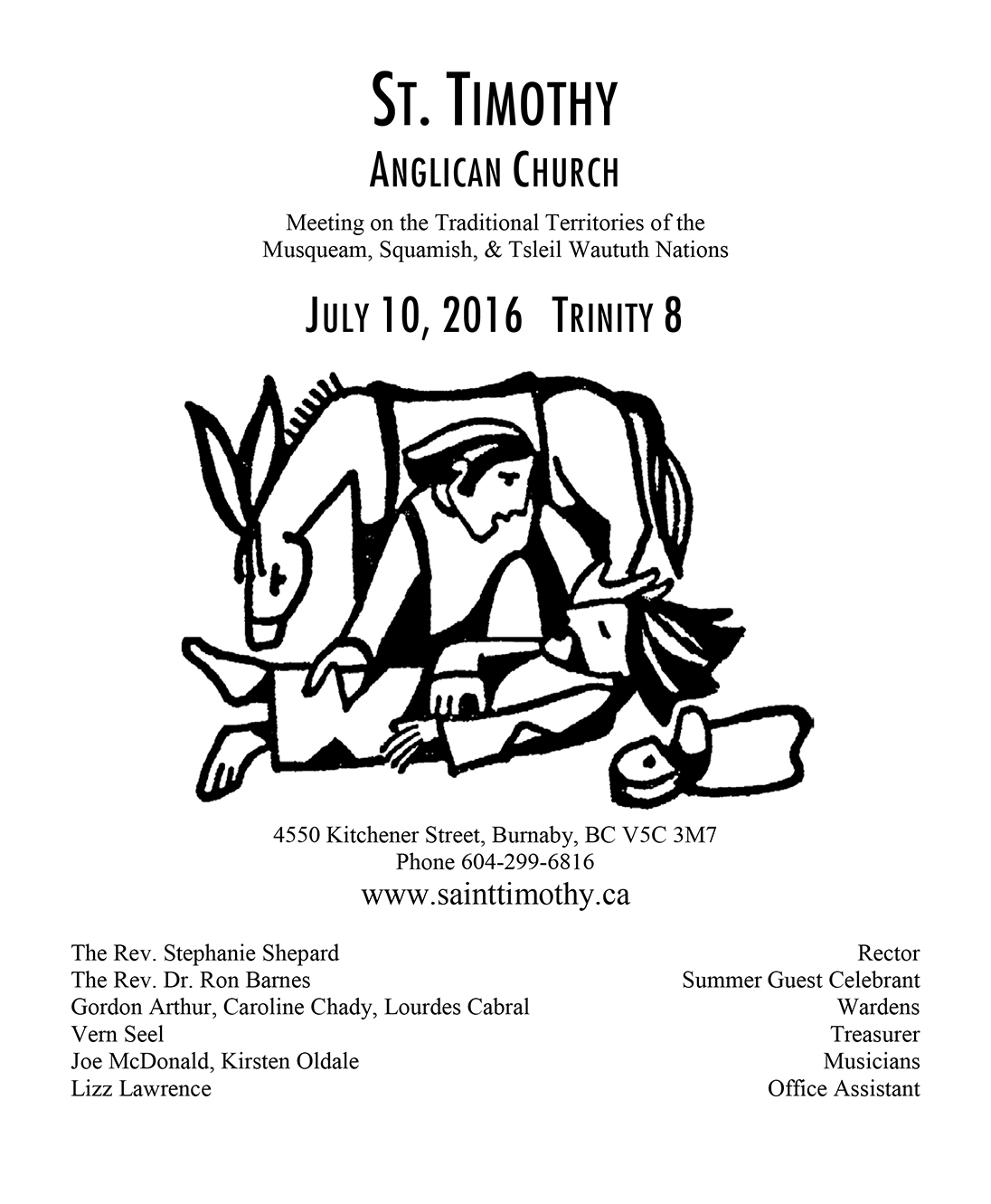 Bulletin: July 10, 2016