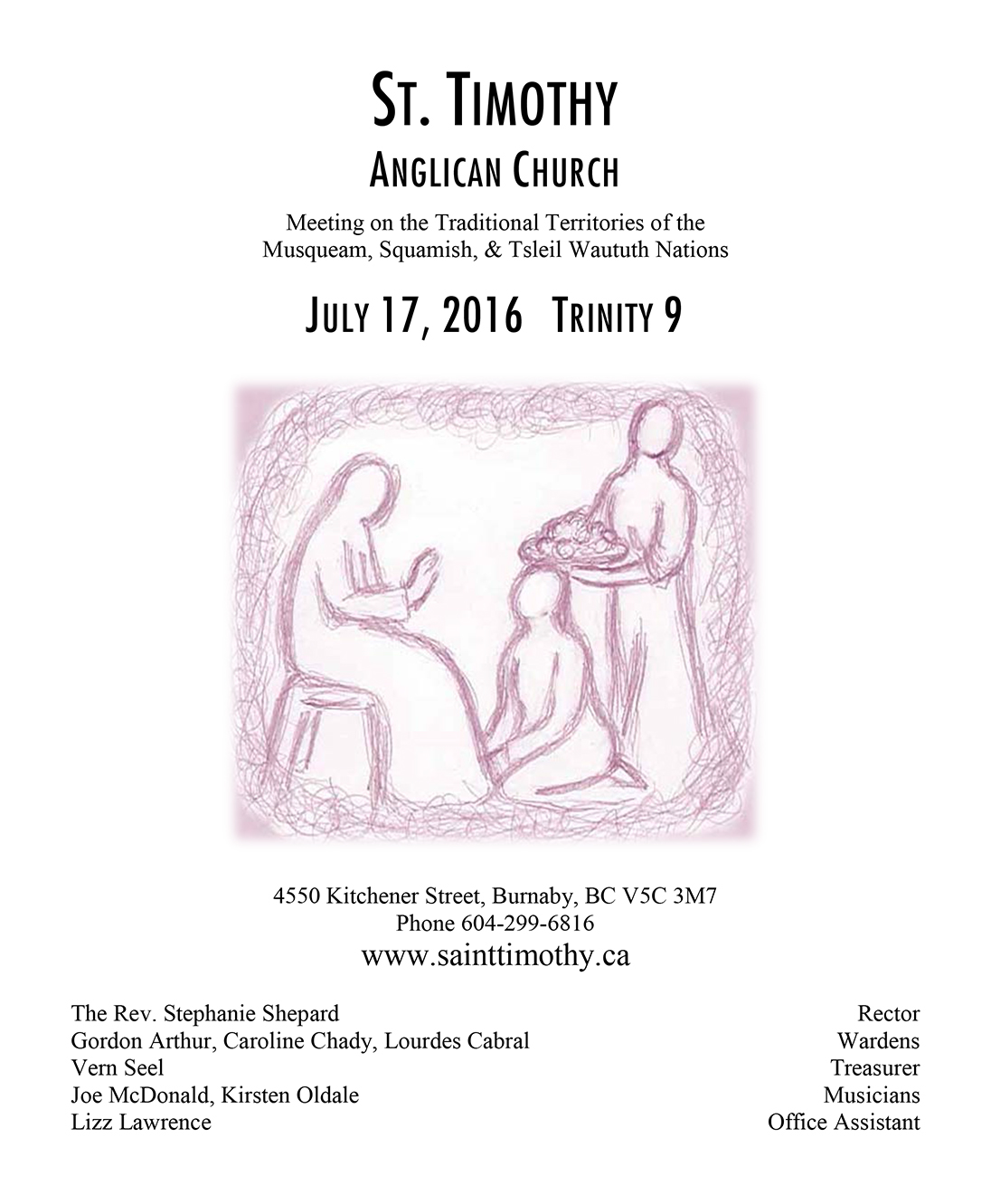 Bulletin: July 17, 2016