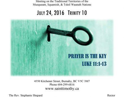 Bulletin: July 24, 2016