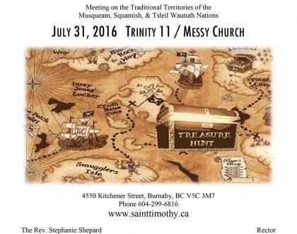 Bulletin: July 31, 2016