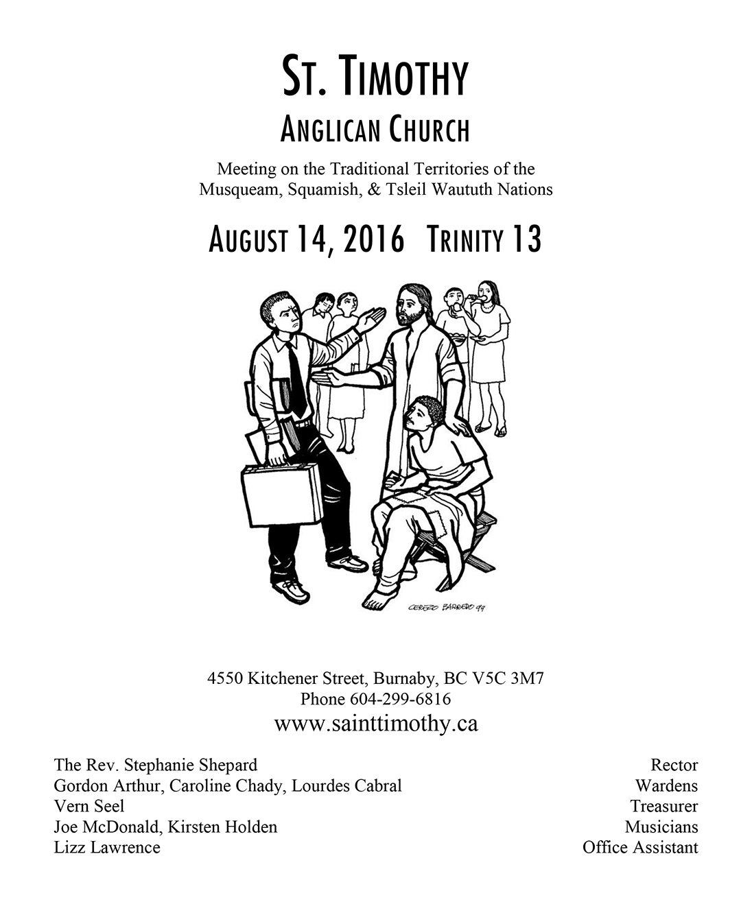 Bulletin: August 14, 2016