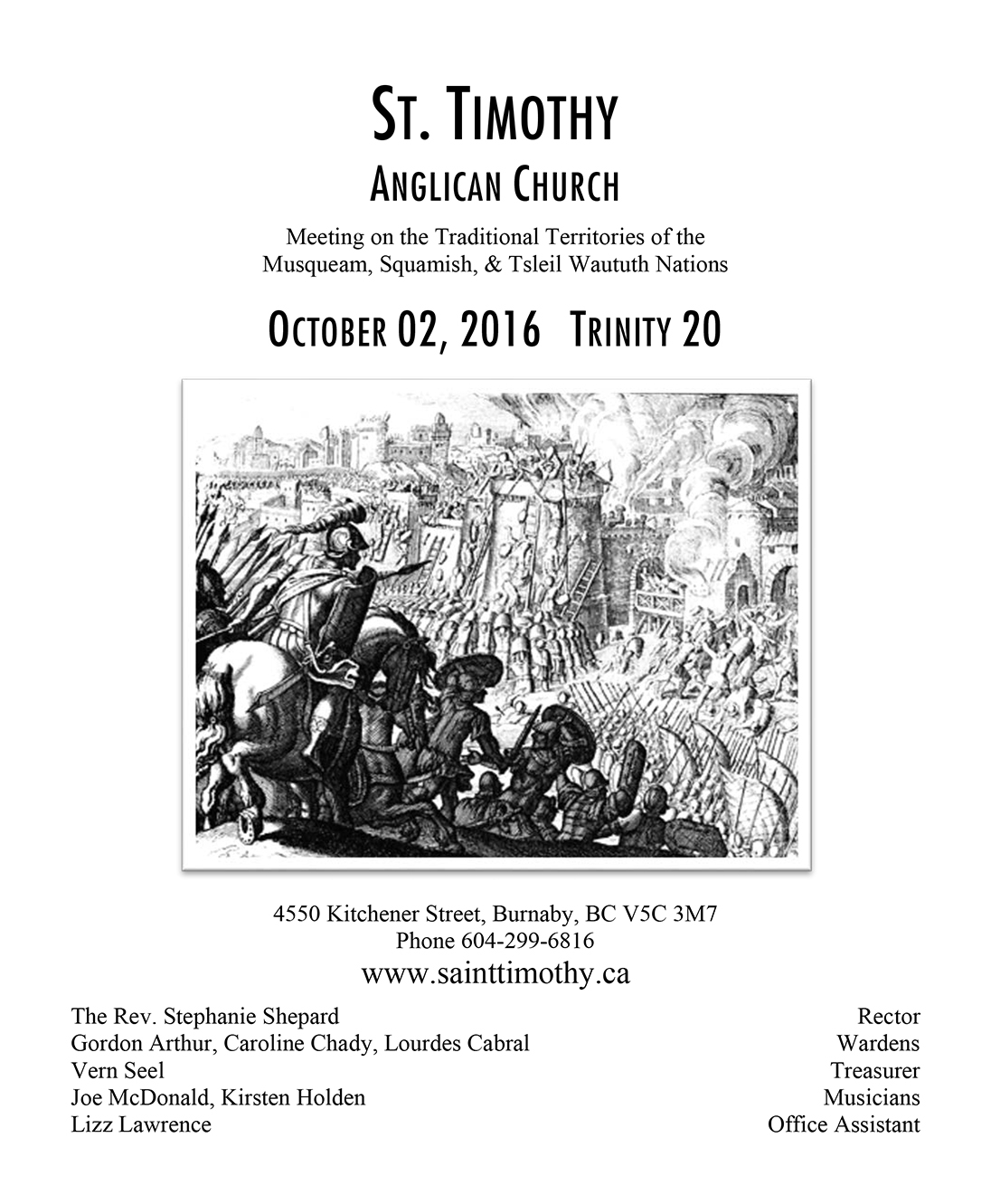Bulletin: October 2, 2016