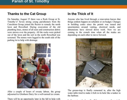 Newsletter: Kitchen Update - September 4