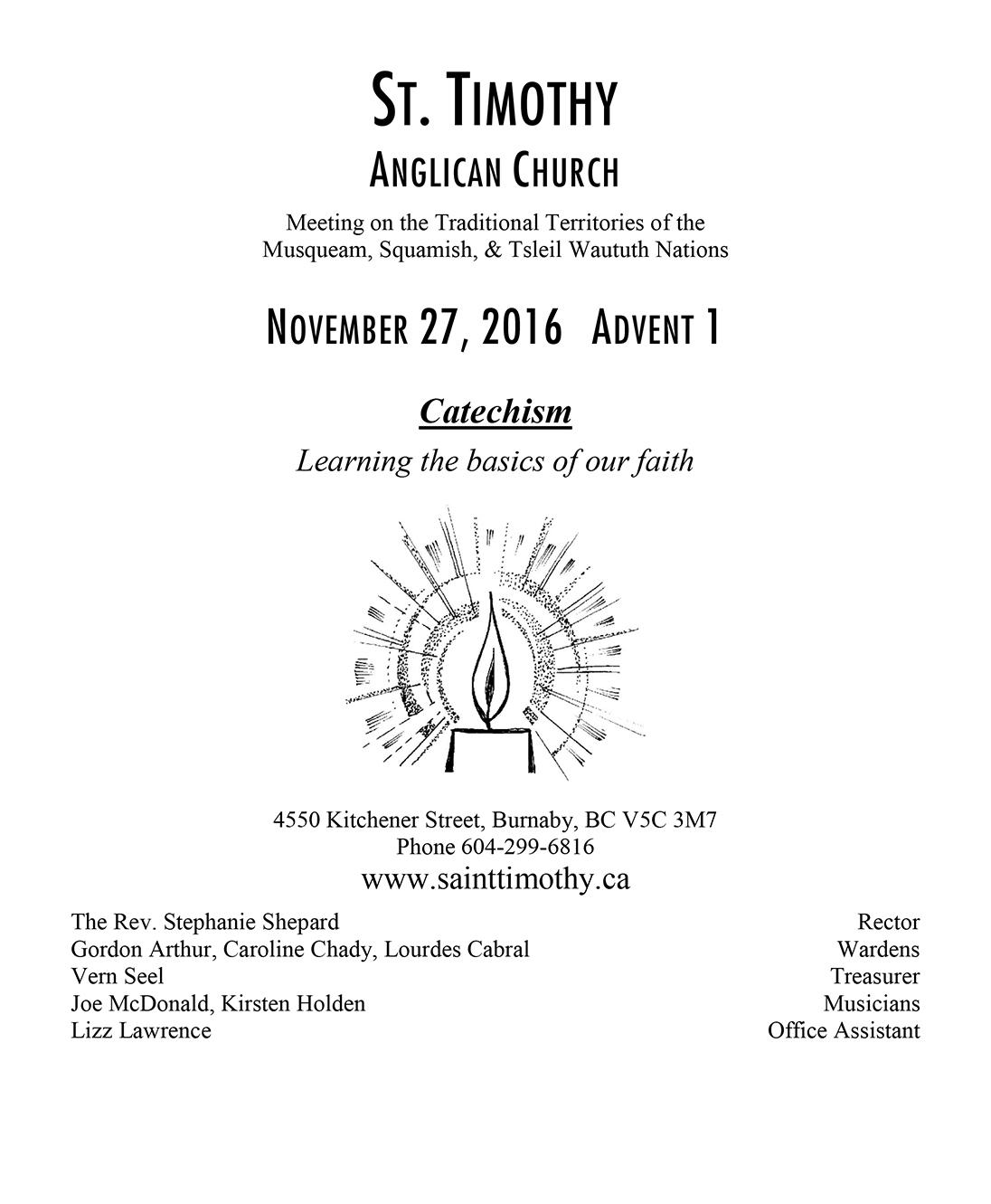 Bulletin: November 27, 2016