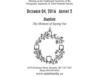 Bulletin: December 4, 2016