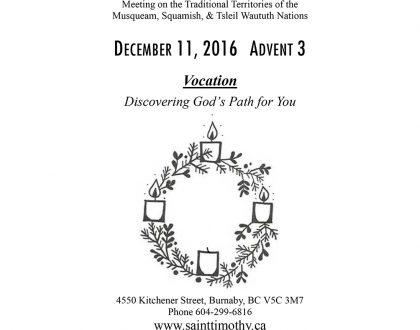 Bulletin: December 11, 2016