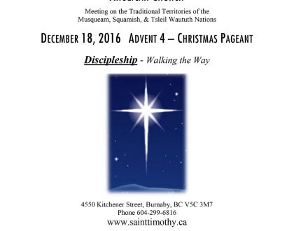 Bulletin: December 18, 2016