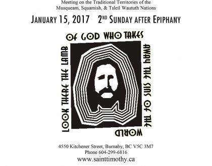 Bulletin: January 15, 2017