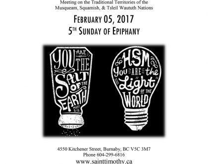 Bulletin: February 5, 2017
