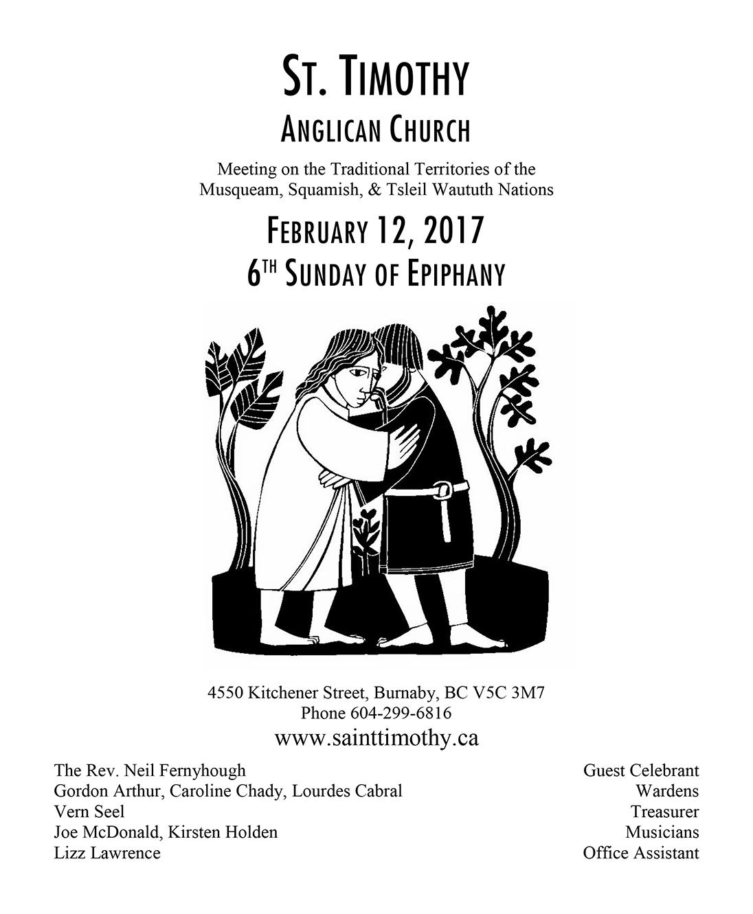 Bulletin: February 12, 2017