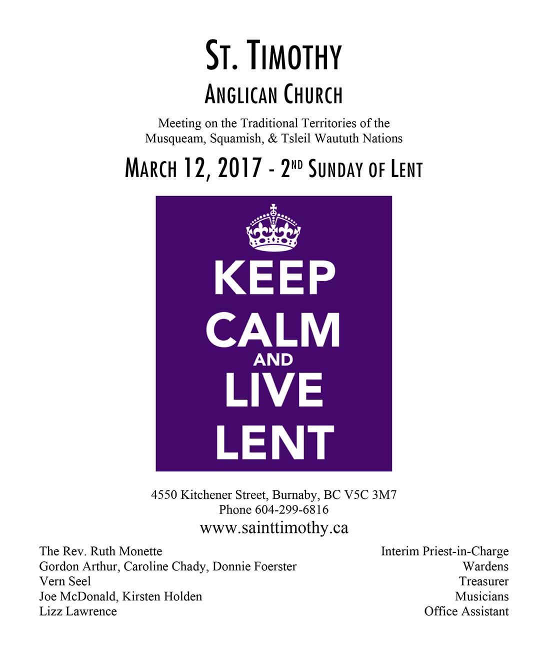 Bulletin: March 12, 2017