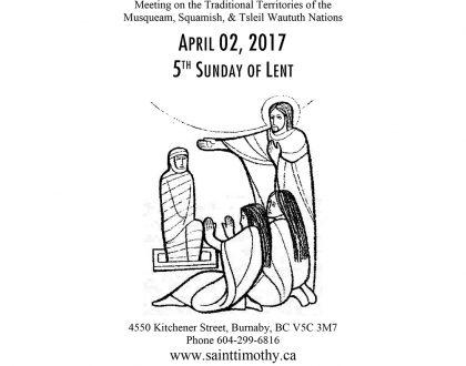 Bulletin: April 2, 2017