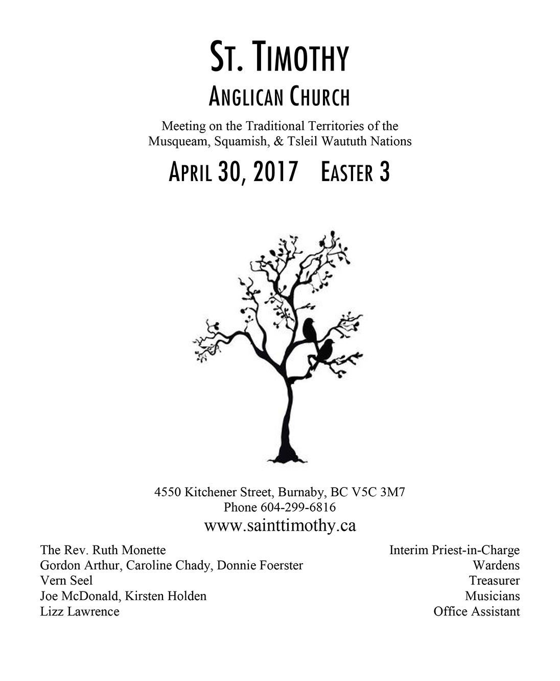 Bulletin: April 30, 2017
