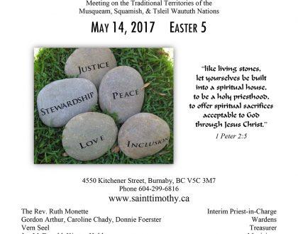 Bulletin: May 14, 2017