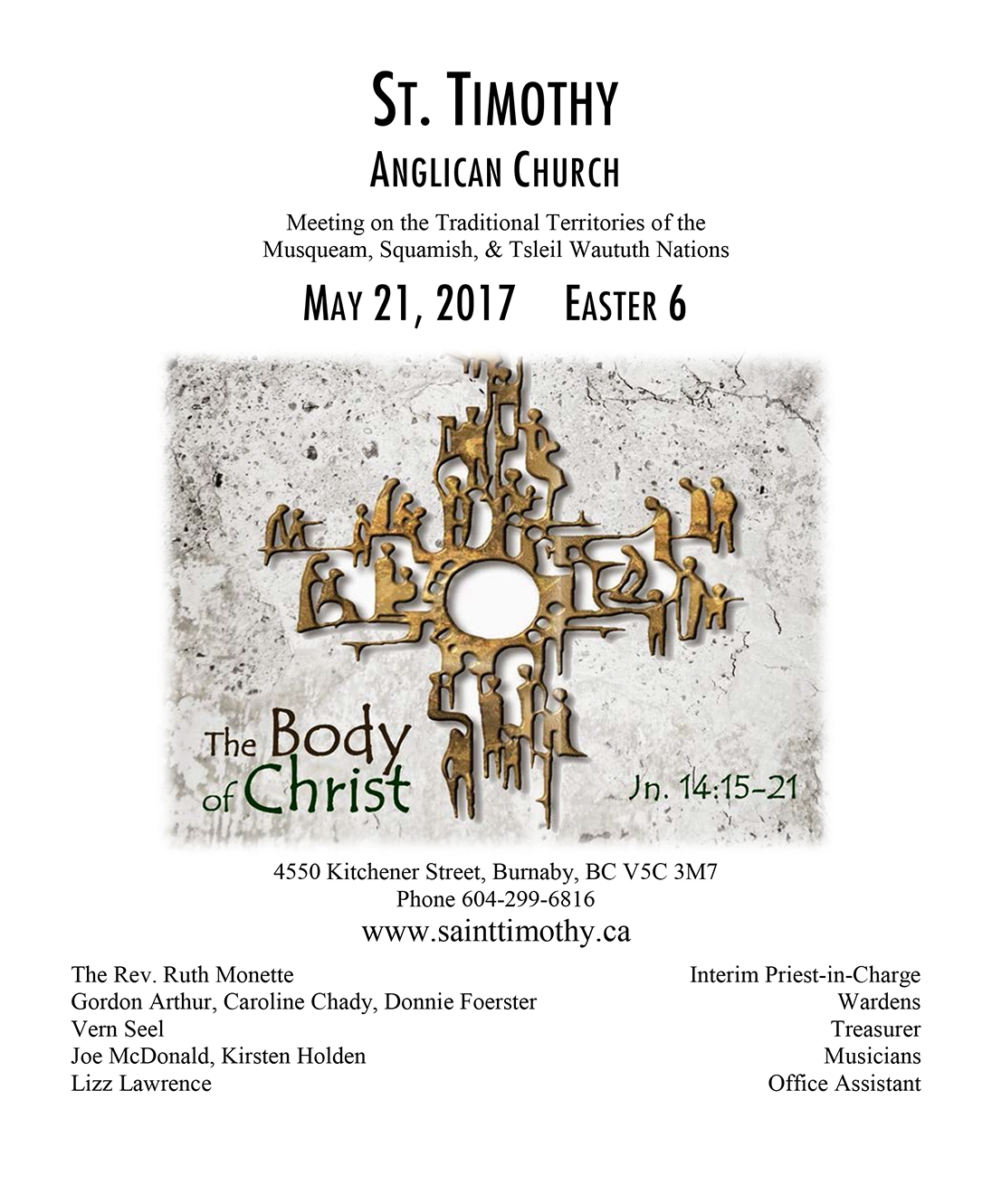 Bulletin: May 21, 2017