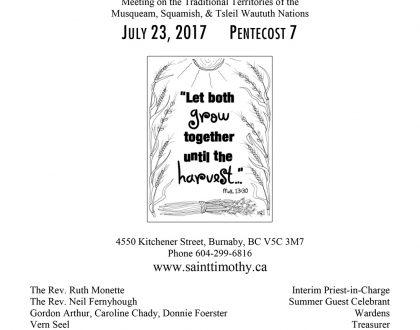 Bulletin: July 23, 2017