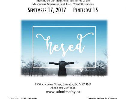 Bulletin: September 17, 2017