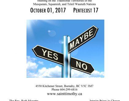 Bulletin: October 1, 2017