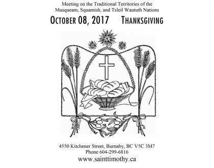 Bulletin: October 8, 2017