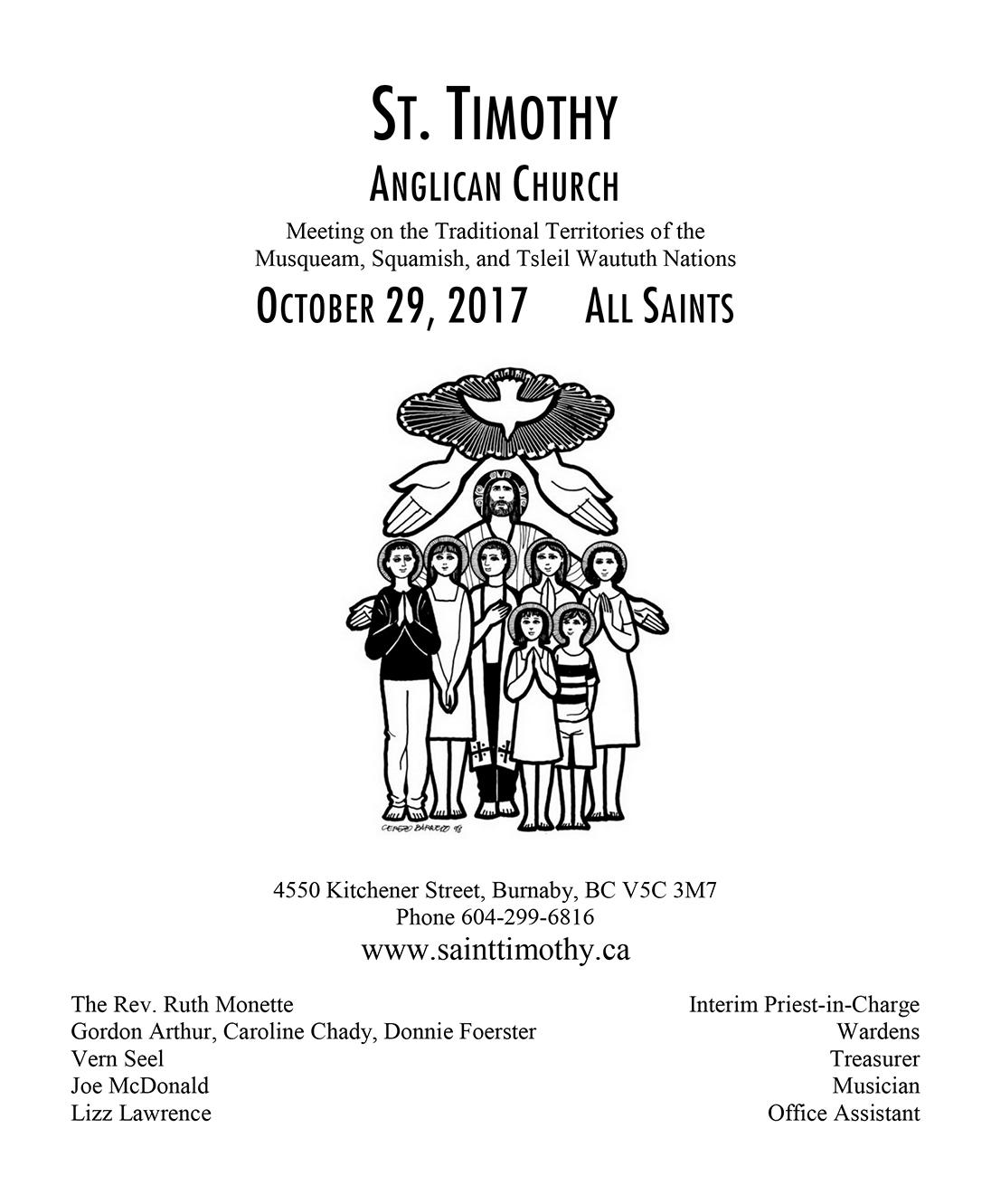 Bulletin: October 29, 2017