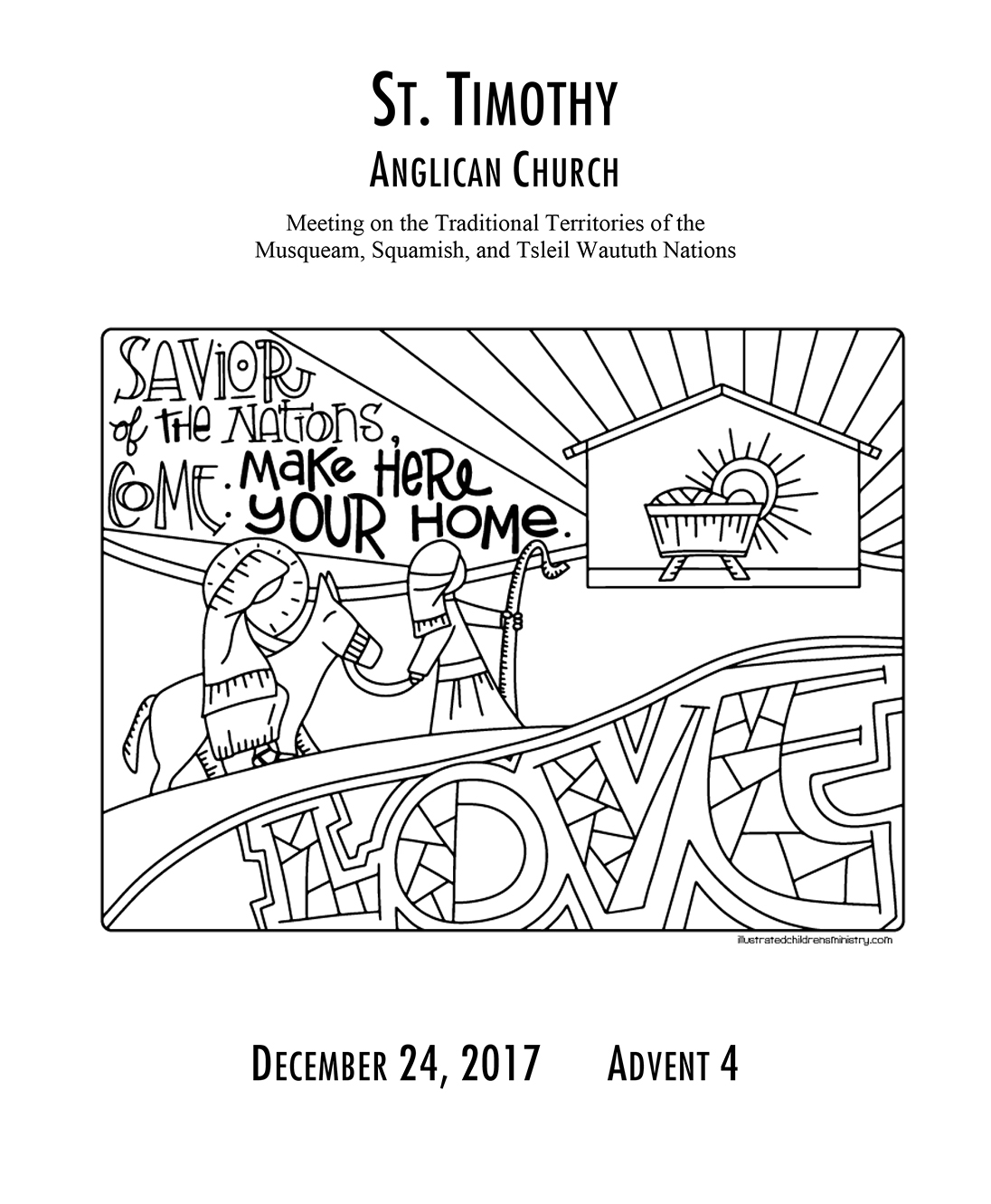 Bulletin: December 24, 2017 - Christmas Pageant