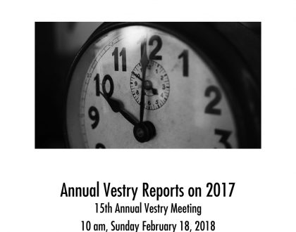 Vestry Reports for 2017