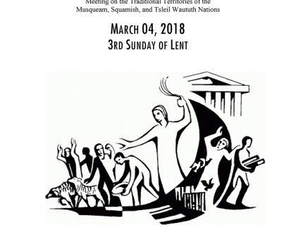 Bulletin: March 4, 2018