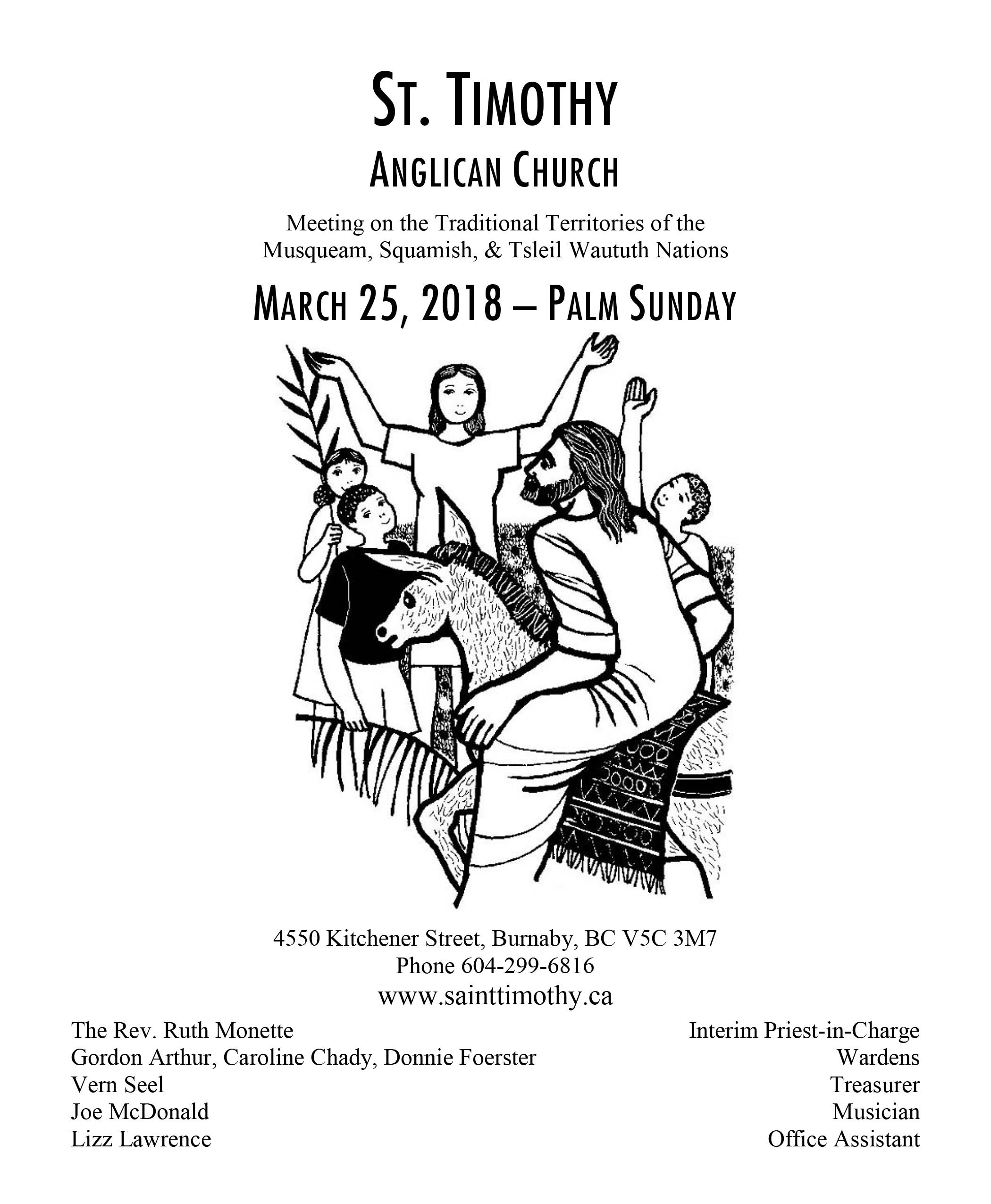 Bulletin: March 25, 2018