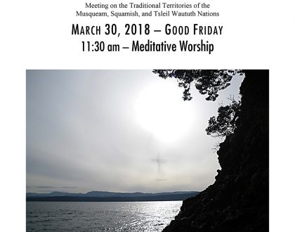 Bulletin: March 30, 2018 (Good Friday Meditative Worship)