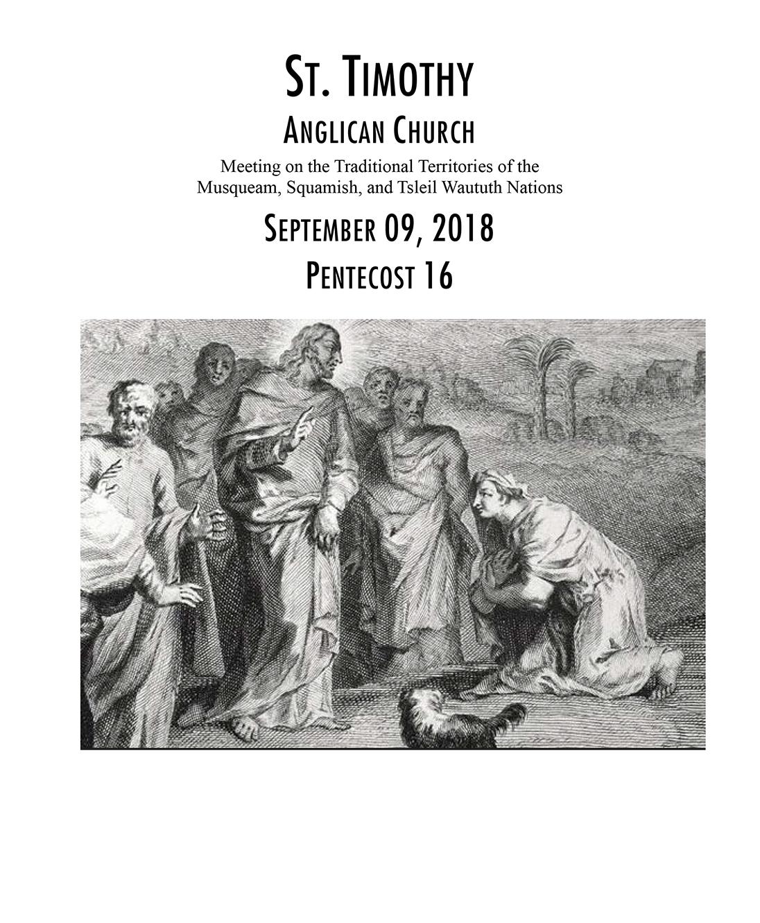 Bulletin: September 9, 2018