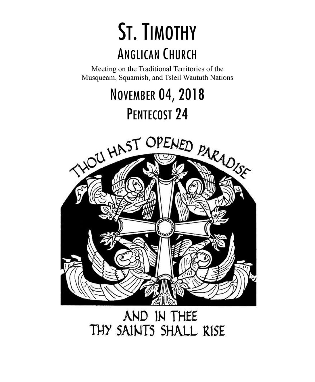 Bulletin: November 4, 2018