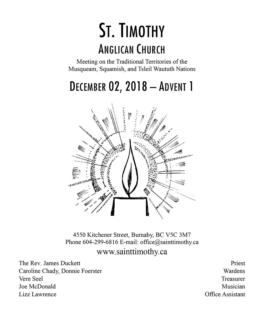 Bulletin: December 2, 2018