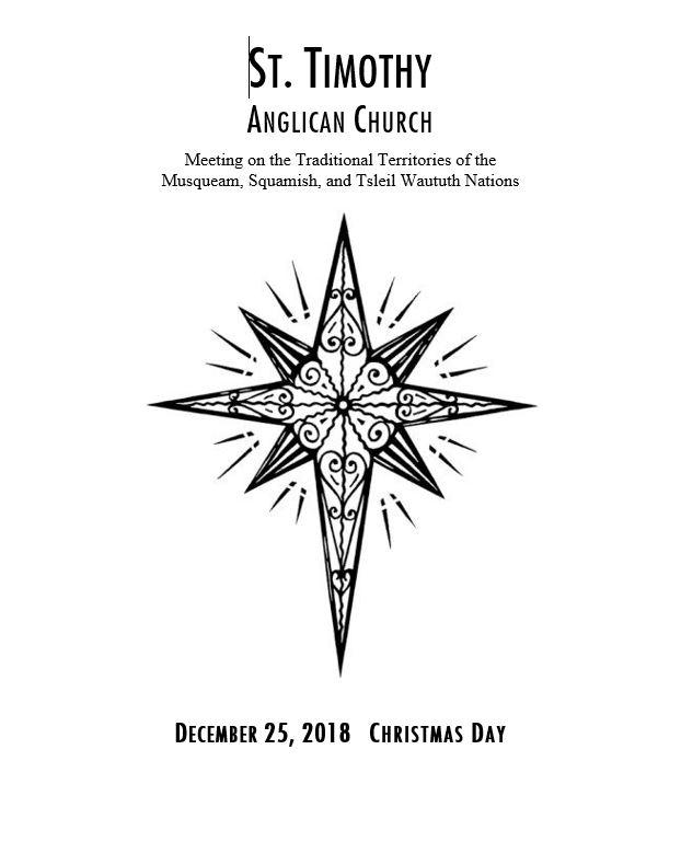 Bulletin: December 25, 2018