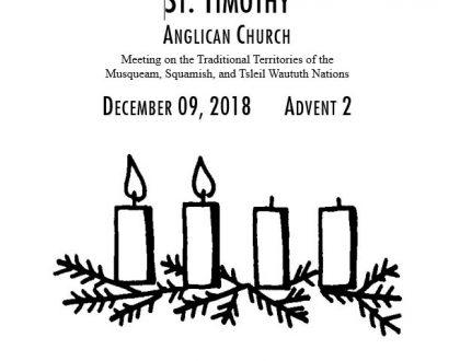 Bulletin: December 9, 2018