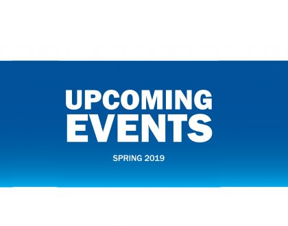 Events: Spring 2019