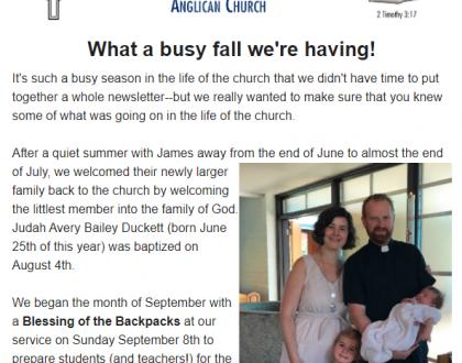 Newsletter: Fall 2019