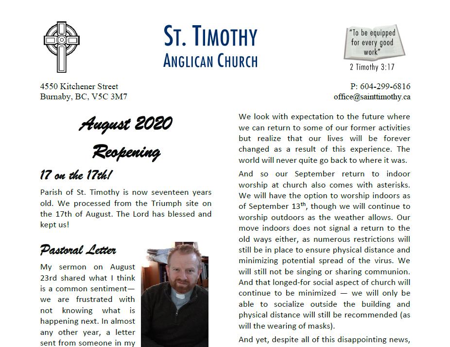 Newsletter: Fall 2020
